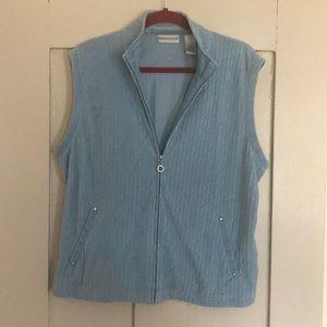 Draper's & Damon's velour zip front vest
